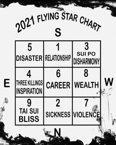 2021 Flying Star Chart