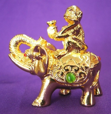 Metal monkey on elephant feng shui career - Elephant meaning feng shui ...
