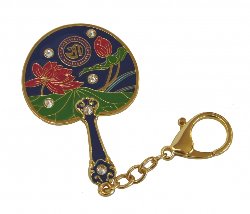 Lotus Mirror Fan for Prosperity and Success
