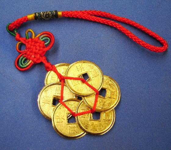 Feng Shui Coins Plum Shaped Coin Charm