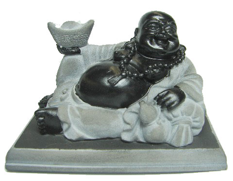 Lying Down Black Buddha Statue