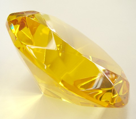 Yellow Topaz Crystal Paperweight