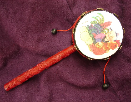 Chinese Rattle Drum Chinese Toy Drum Party Drums
