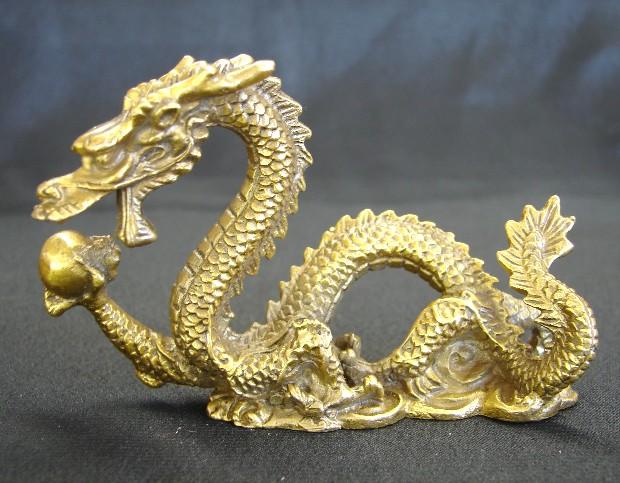 Brass Metal Dragon Statue