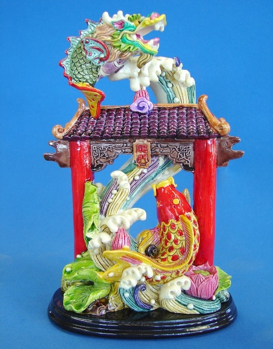 carp fish jumping over the dragon gate chinese feng shui dragon