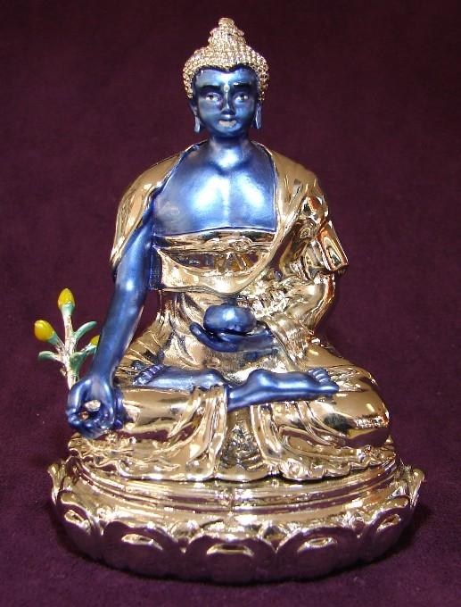 Bejeweled Medicine Buddha Blue Buddha For Feng Shui Use