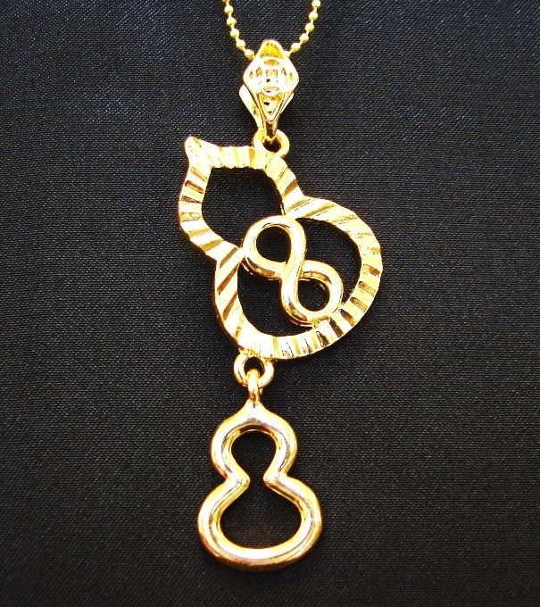 Double wu lou necklace with number 8 aloadofball Choice Image