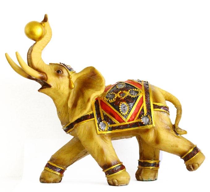 Big Yellow Gold Elephant Statue