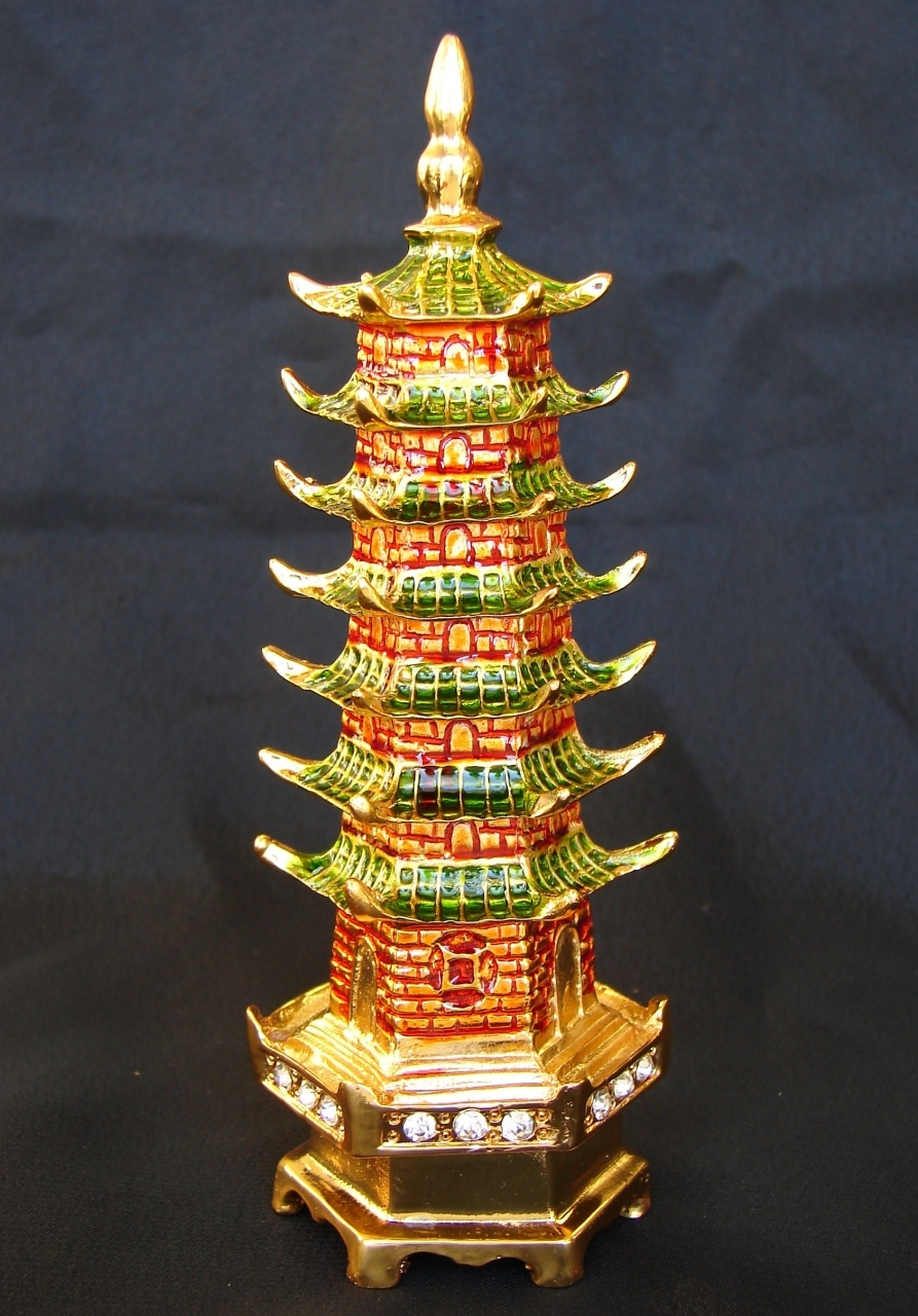 Feng Shui 7 Level Green Pagoda For Exam