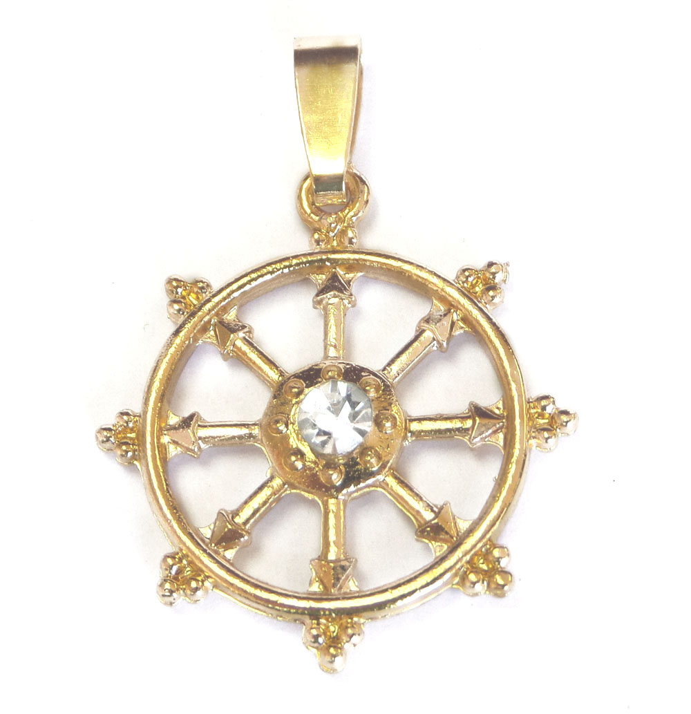 Fortune wheel pendant dharmachakra 8 spoked wheel fortune wheel pendant aloadofball Gallery