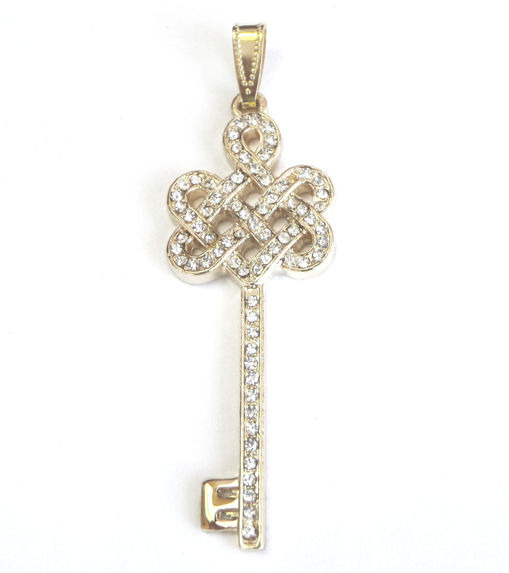 Bejeweled mystic knot with key pendant mozeypictures Image collections