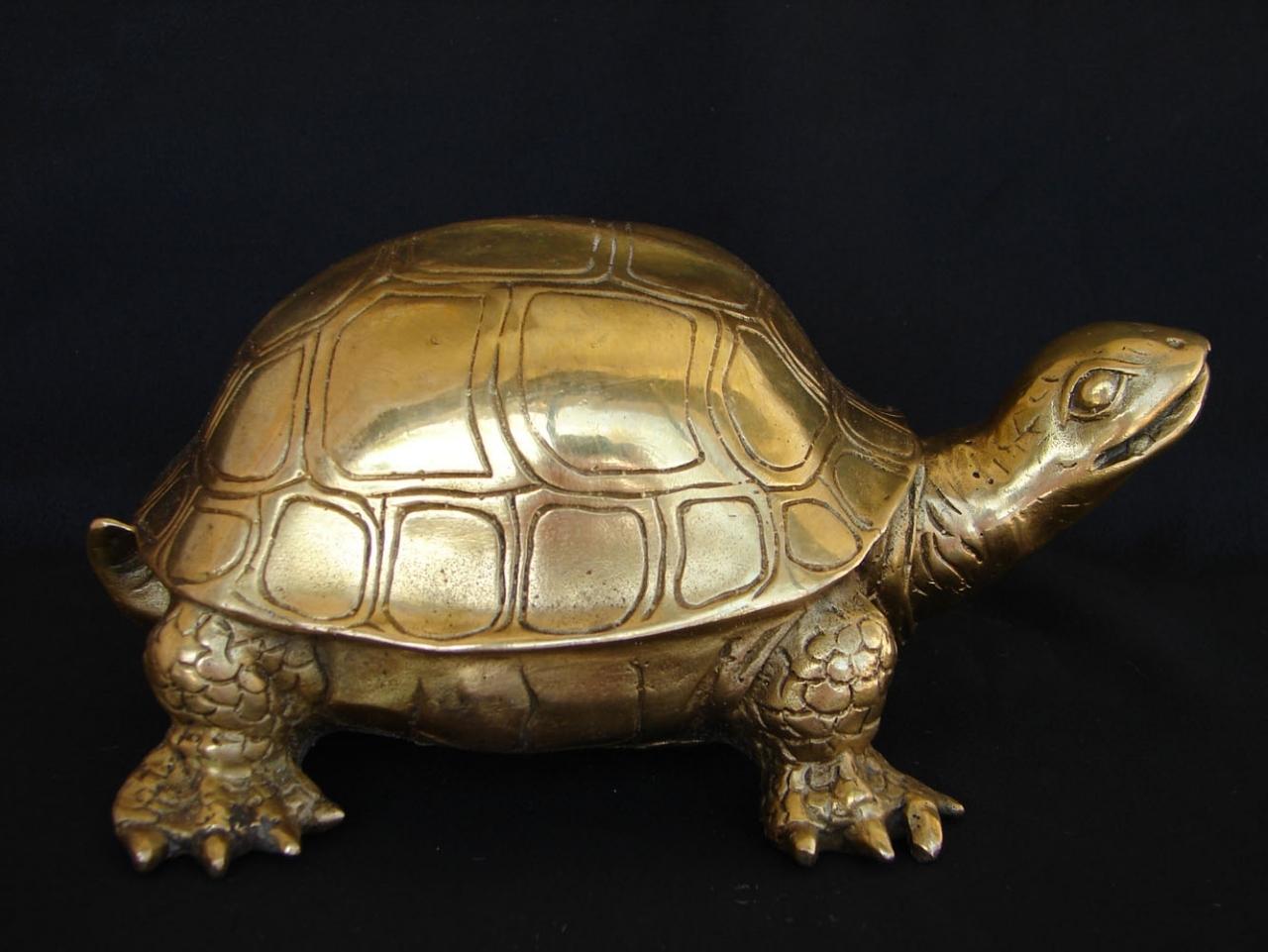 Big Feng Shui Brass Metal Turtle Statue