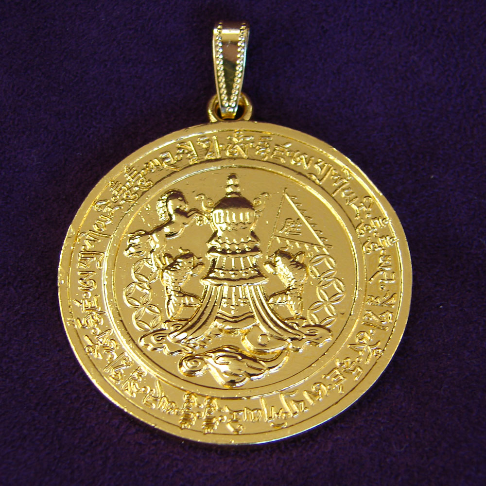 gold medal miraculous large traditional st medallion introducing the front