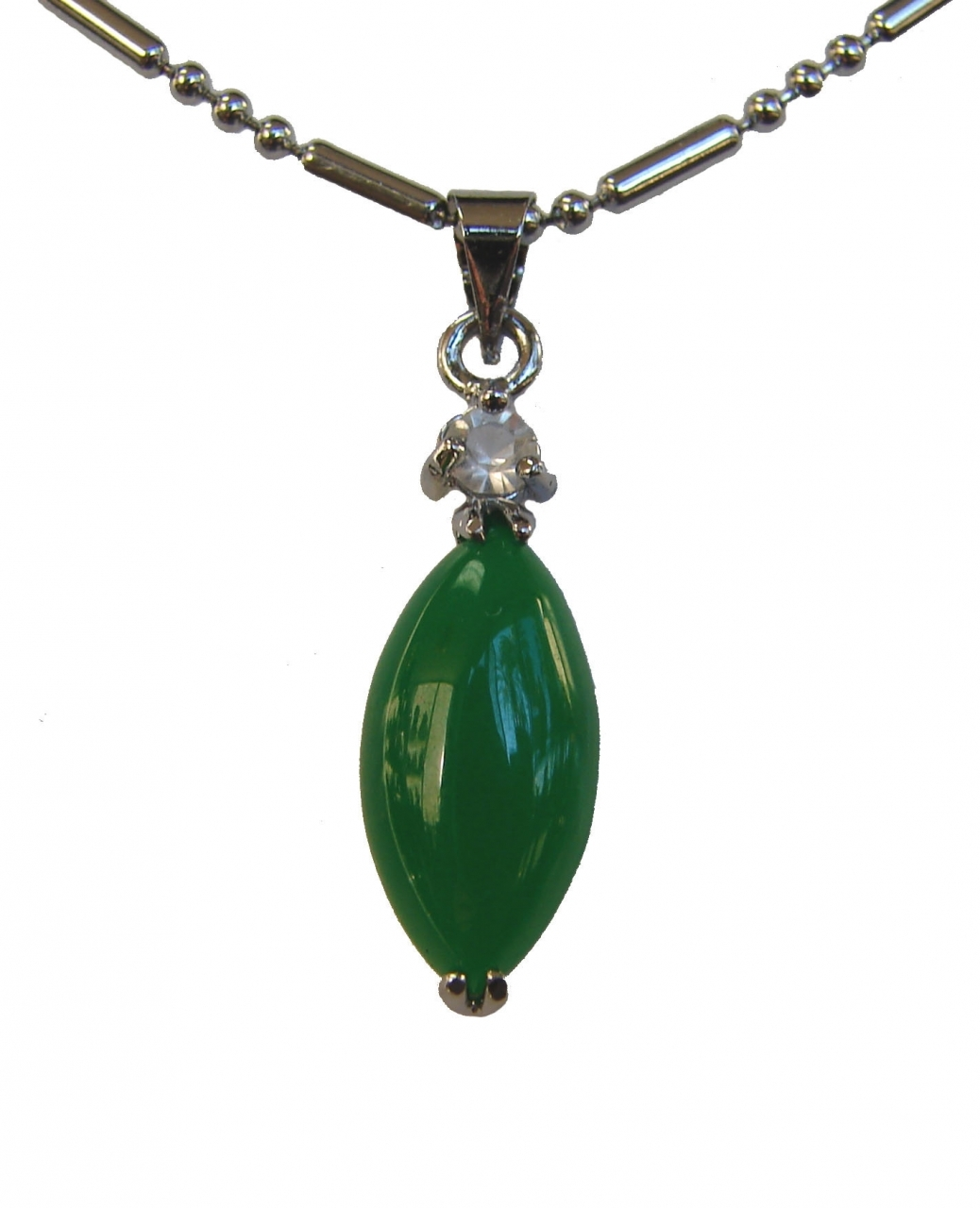 Green Chinese Leaf Shape Jade Pendant