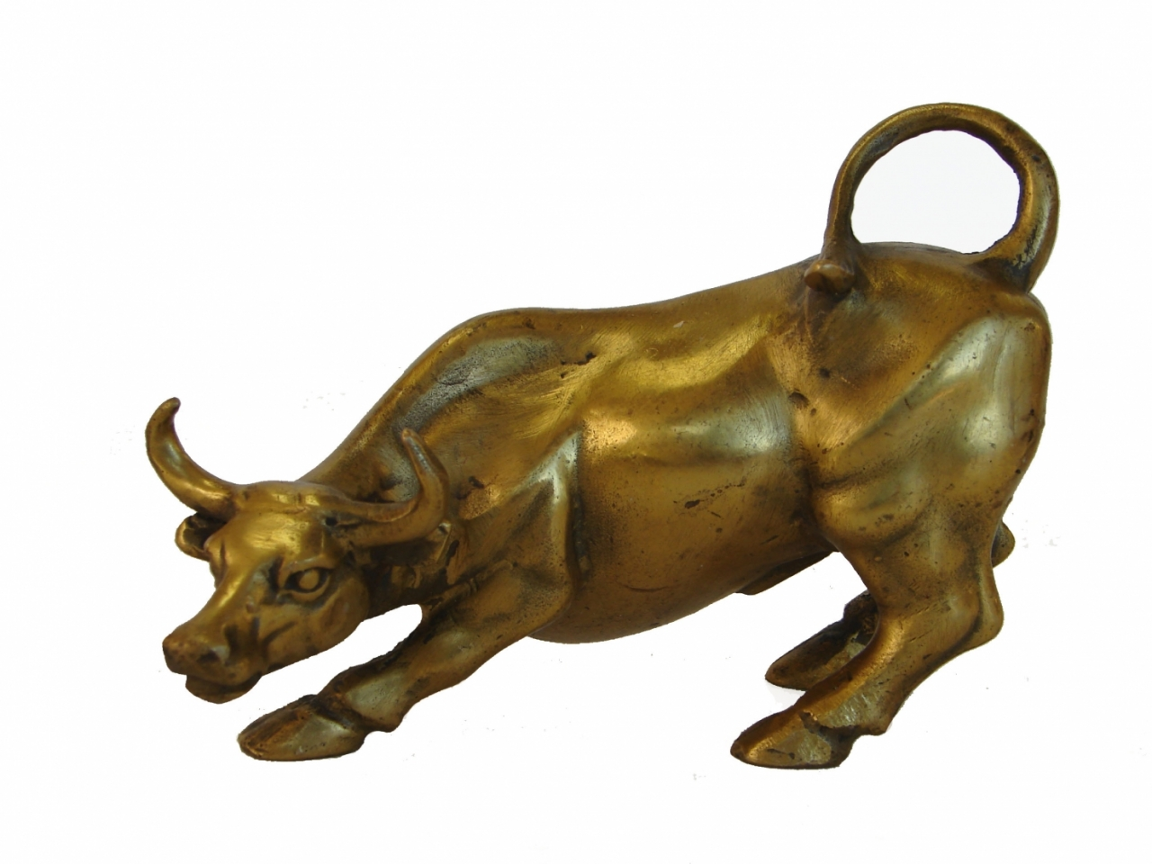 Brass Ox Statue Metal Ox Statue Symbol Of Good Omen