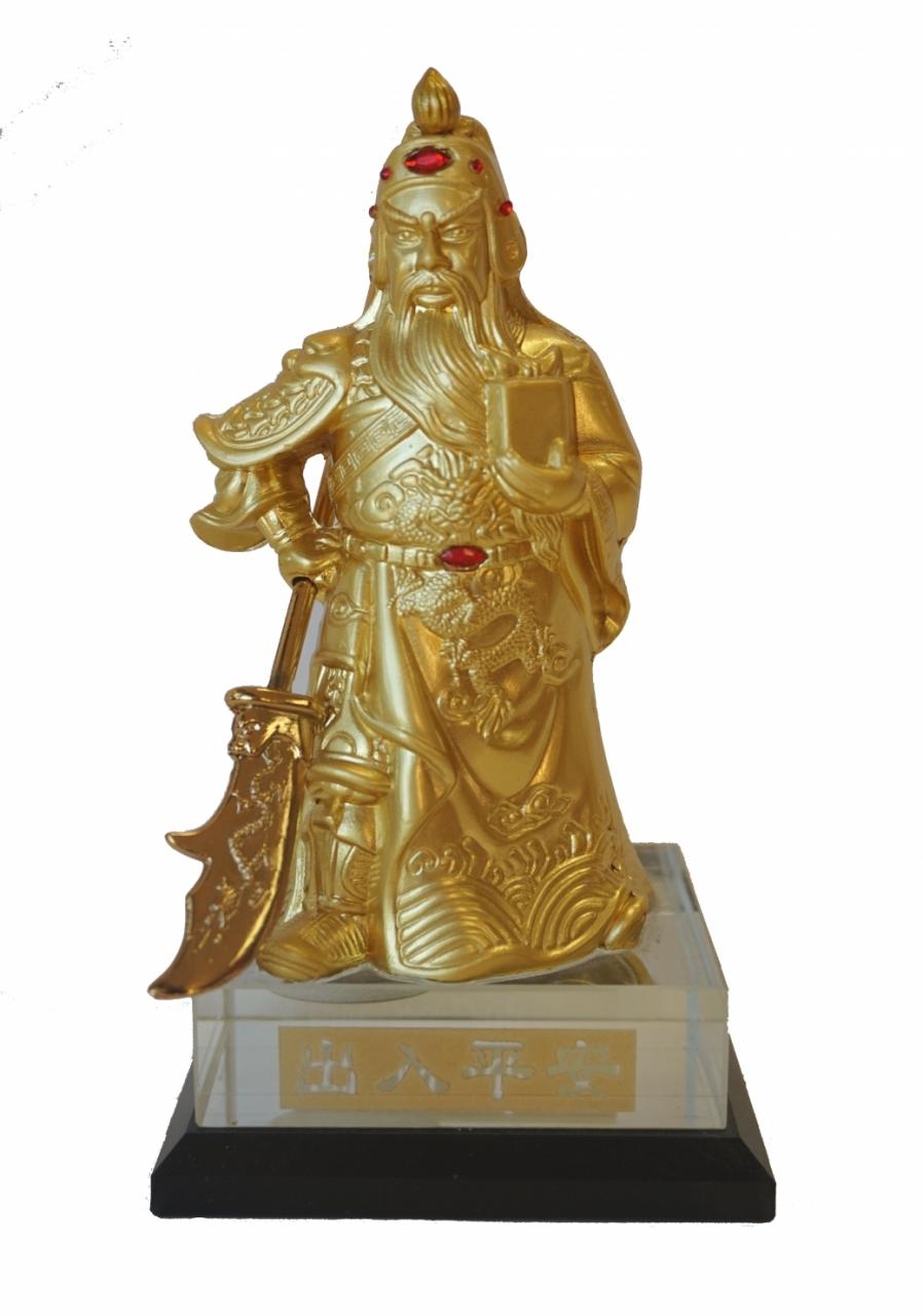 Brass Guan Gong Statue Metal Kuan Gong