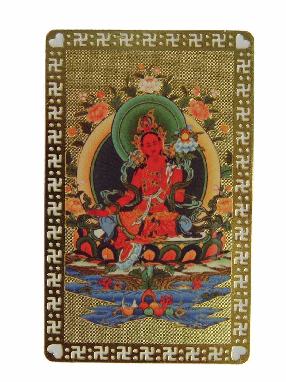 Red Tara Talisman Card