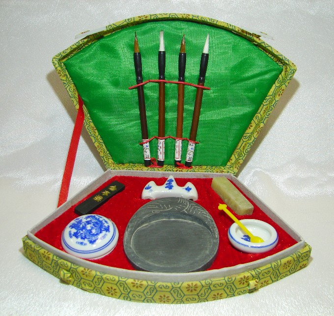 Chinese Calligraphy Set For Chinese Writings Brushes Ink