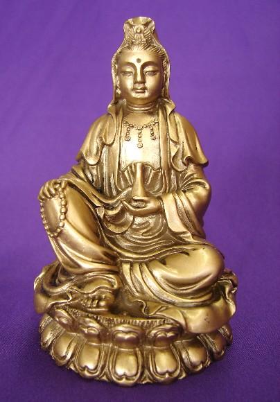 Bronze Sitting Kwan Yin Kuan Yin