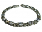 Sterling Bracelet w/ Clear Oval Crystals