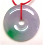 Chinese Coin Shape Jade Pendant