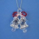 Small Glass Twin Bells