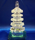 Chinese Feng Shui 5 Layer Crystal Pagodas