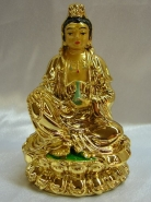 Gold Sitting Kuan Yin