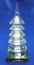 Chinese Feng Shui 7 Layer Crystal Pagodas