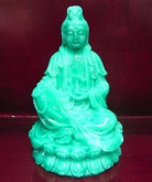 Green Sitting Kwan Yin