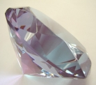 Purple Crystal Paperweight