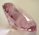 Pink Crystal Paperweight
