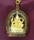 Gold Ganesh Hindu God Pendants
