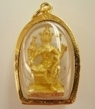 Gold 4 Face Buddha Pendants