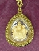 Gold Money Buddha Pendant