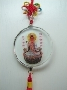 Crystal Sitting Guan Yin Charms