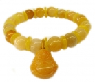 Yellow Topaz Birthstone Bracelets with Buddha Pendant