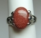 Red Goldstone Fashion Rings