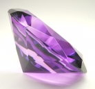 Dark Purple Crystal Paperweight