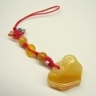 Yellow Jade Charm