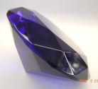 Dark Blue Crystal Paperweight