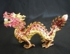 Bejeweled Cloisonne Dragon Statue