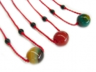 Chinese Jade Bean Necklace for Kid