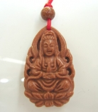 Red Goldstone Kuan Yin Necklaces