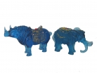 Blue Rhino and 6 Tusks Elephant