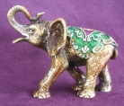 Bejeweled White Elephant Statue