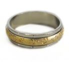 Tibetan Mantra Golden Spinning Ring