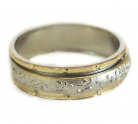 Tibetan Mantra Silver Spinning Ring