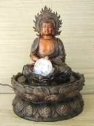 Water Fountain with Meditation Buddha