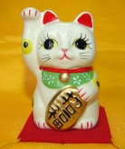 Lucky Cat with Right Hand Up